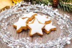 Xmas cinnamon cookies Stock Image