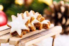 Xmas cinnamon cookies Stock Image