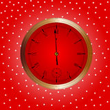 Xmas Clock. A Christmas and New Year clock showing almost midnight Royalty Free Stock Photos