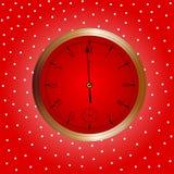 Xmas Clock Royalty Free Stock Photos