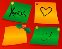 Xmas color papers Stock Photo