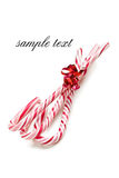Xmas concept with stripy candy cane Royalty Free Stock Photos