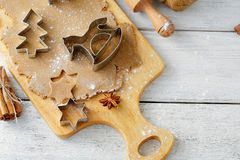 Xmas cookies background Stock Image