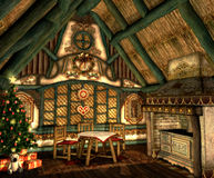 Xmas Cottage Stock Photography