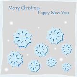 Xmas cover postcard  Royalty Free Stock Image