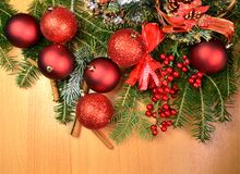 Xmas chrismas background firs. Copy space royalty free stock image