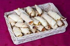 Xmas croissants with jam Royalty Free Stock Photo