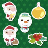 Xmas cute cartoon set Stock Photos