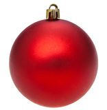 Xmas dark red ball isolated on white Royalty Free Stock Image
