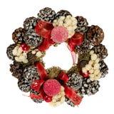 Xmas decoration. Christmas wreath, isolated on white background Stock Photos