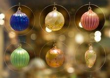 Xmas decoration. Different xmas glass balls Stock Photo