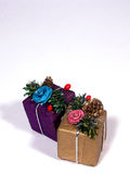 Xmas decoration. Christmas gifts Stock Photography
