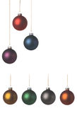Xmas decoration. Xmas balls with a nice soft texture, easy to create your own design. Isolated on a white background Stock Images