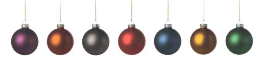 Xmas decoration. Xmas balls with a nice soft texture, isolated on a white background stock images