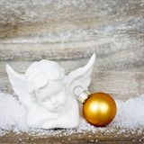 Xmas decoration angel Stock Image