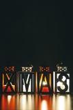 Xmas Decoration with Candle Lanterns Stock Image
