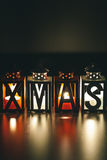 Xmas Decoration with Candle Lanterns Stock Photography