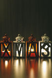 Xmas Decoration with Candle Lanterns Royalty Free Stock Images