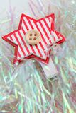 Xmas decoration close up star Stock Photos