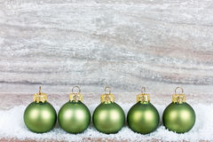 Xmas decoration with green balls Stock Photography