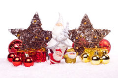 Xmas decoration isolated on white Stock Images