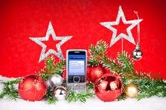 Xmas decoration and message to santa Stock Photos