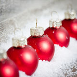 Xmas decoration with red balls Royalty Free Stock Image