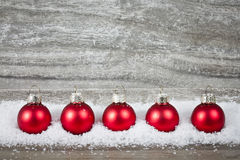 Xmas decoration with red balls Royalty Free Stock Images