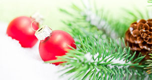 Xmas decoration with red balls Stock Photography
