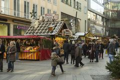 Xmas decoration in downtown Munich, Germany Stock Photo