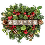 Xmas Decoration Sign Stock Images