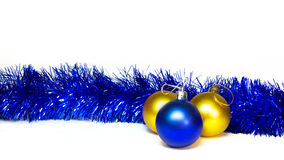 Xmas decoration on white Royalty Free Stock Photos
