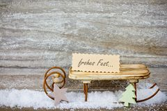 Xmas decoration on wooden background Royalty Free Stock Images