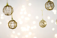 Xmas decorations. Christmas Decorations against a light background royalty free stock photography