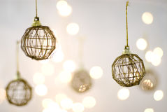 Xmas decorations. Christmas Decorations against a light background royalty free stock photos