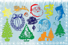 Xmas decorations Stock Images