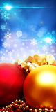 Xmas decorations with beauty bokeh Stock Photos