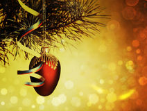 Xmas decorations with beauty bokeh Stock Photography