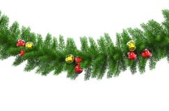 Xmas Decorations With Red And Gold Bulbs Royalty Free Stock Images