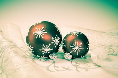 Xmas decorations with retro effect Royalty Free Stock Photography