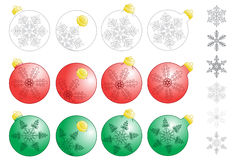 Xmas decorative balls Stock Photography