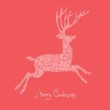 Xmas deer illustration. Stock Photos
