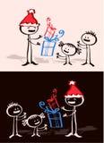 Xmas do pai & miúdos ilustração stock
