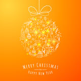 Xmas Doodle Ball Stock Photography