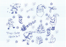 Xmas doodles Royalty Free Stock Images