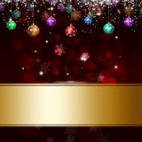 Xmas Drak Red Background Stock Photo