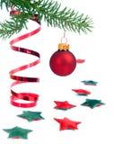 Xmas drzewa dekoracje Fotografia Stock