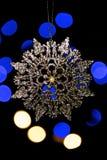 Xmas drzewny bauble z bokeh światłami Zdjęcia Royalty Free