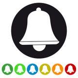 Xmas Dzwonkowa ikona Odizolowywająca Na bielu - Kolorowa Wektorowa ilustracja - ilustracji