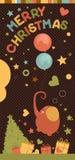 Xmas-elefantkort Arkivbild